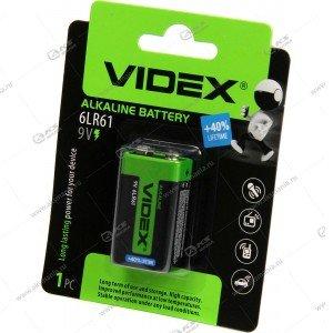 Элемент питания Videx 6LR61/1BL (крона)