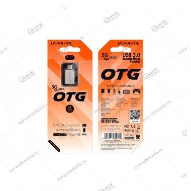 OTG Borofone BV2 USB-Micro USB серый