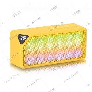 Колонка портативная  X3S BT FM TF USB желтый