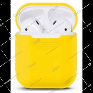 Силиконовый чехол для AirPods Case Protection желтый