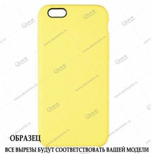 Silicone Case (Soft Touch) для iPhone XS Max бледно-желтый