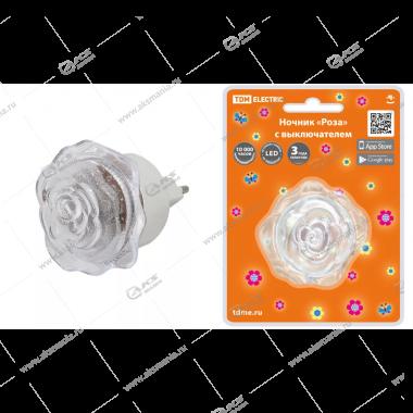 """Светильник-ночник TDM """"Роза"""" с выключателем 0,4 Вт, 220В"""