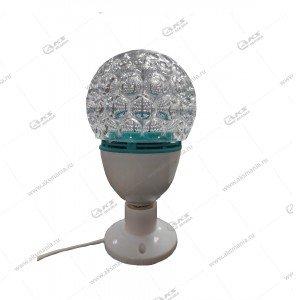 """Светодиодная лампа """"Шар""""- фаберже на подставке с цоколем+патрон с вилкой"""