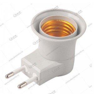 Переходник для лампочки E27 - 220V (патрон) NG-399