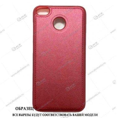 Силикон Huawei P10 Lite/Nova Lite кожа с логотипом красный