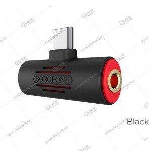 Переходник Borofone BV8 для Type-C Digital 3,5 Audio Converter черный