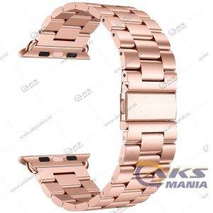 Ремешок Apple Watch 38-40mm металлический розовое золото