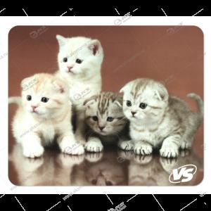 """Коврик для мышки VS """"Cat"""", Рис.6 (194*233*3 мм), полипропилен+вспененный пластик"""