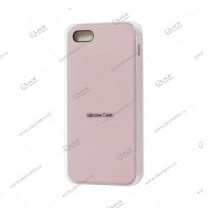 Silicone Case (Soft Touch) для iPhone 5/5S/5SE пудра