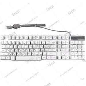 Клавиатура KGK-15U Dialog Gan-Kata - игровая с подсветкой, USB, белый