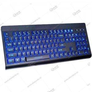 "Perfeo клавиатура ""BACKLIGHT"" Multimedia, подсв. кнопок/буквUSB, чёрная (PF-843)"
