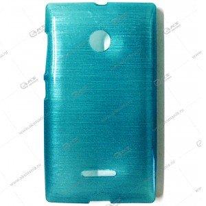Пластик Samsung S4/i9500 карамель лазурный