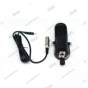 Микрофон кондесаторный S-200 кабель 2.1м 3,5мм, черный