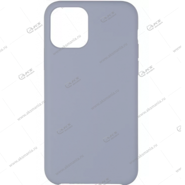 Silicone Case (Soft Touch) для iPhone 11 Pro Max пурпурно-серый