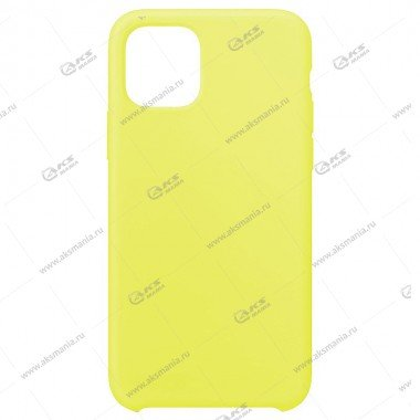Silicone Case (Soft Touch) для iPhone 11 Pro Max бледно-желтый