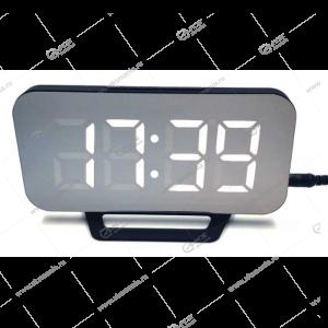 Часы настольные DS-3625L черно/белые