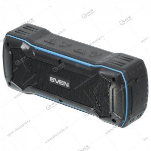 Колонка портативная SVEN PS-220 USB.TF.FM. 1200mAh черно-синий