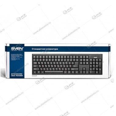 Клавиатура Sven 303 Standard Power, USB, чёрная