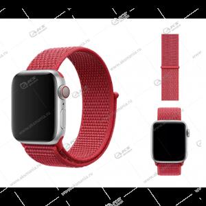 Ремешок нейлоновый для Apple Watch 42mm/ 44mm малиновый