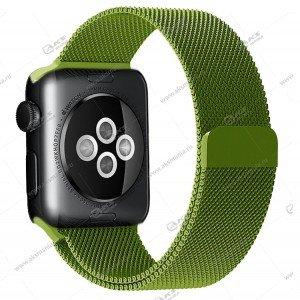 Ремешок миланская петля для Apple Watch 38mm/ 40mm зеленый