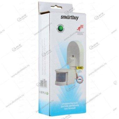 Датчик движения Smartbuy инфракрасный настенный 1200Вт, до 12м, IP44 (SBL-MS-008)