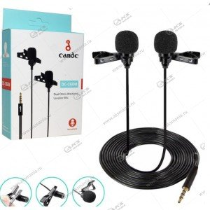 Микрофон Candc DC-C6DM 2 Mic для камер и телефонов