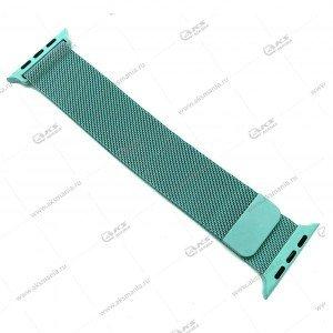 Ремешок миланская петля для Apple Watch 38mm/ 40mm мятно-зеленый