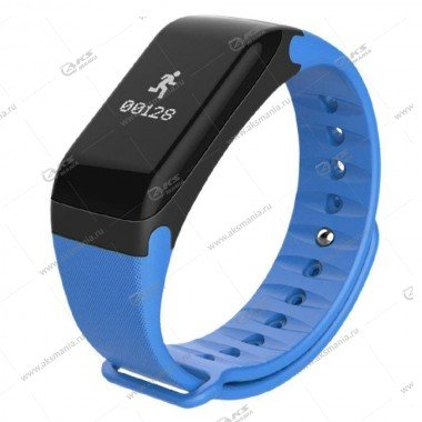 Smart Bracelet F1 Шагомер Пульсометр синий