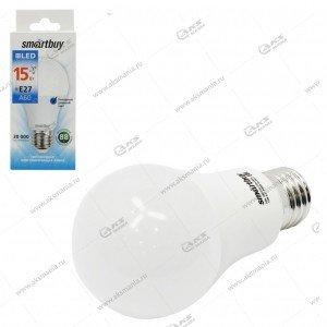 Лампа светодиодная Smartbuy A60-15W-220V-6000К-E27 (холодный дневной свет)