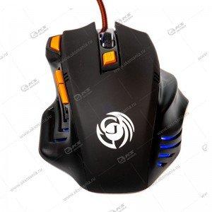Мышь проводная MGK-14U Dialog Gan-Kata - игровая, 7 кнопок + ролик прокрутки, USB, чёрная
