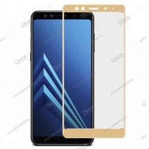 Защитное стекло Samsung A6 Plus 3D Gold