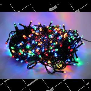 Гирлянда черный провод граненный диод 100Led разноцвет.