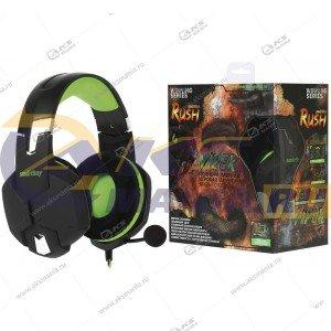 Наушники Smartbuy SBHG-2100 Rush Viper , кабель 1м+удлинитель 2м. черн/зеленый