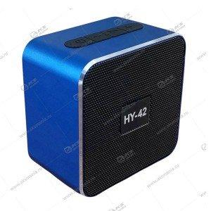 Колонка портативная  HY-42 BT FM TF USB синий