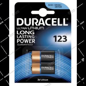 Элемент питания Duracell CR123A/ 2BL