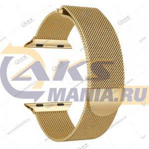 Ремешок миланская петля для Apple Watch 38mm/ 40mm золотой