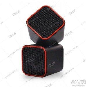 Компьютерные колонки SmartBuy CUTE, мощность 6Вт, USB, чёрные/оранж. (SBA-2590)