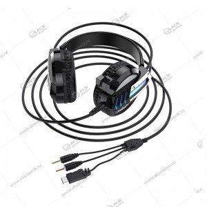 Наушники Borofone BO100 Fun gaming с микрофоном черный
