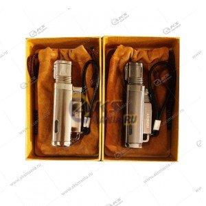 Зажигалка LA-0570 в металлическом корпусе, газ, турбо в чехле