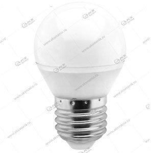 Лампа светодиодная Smartbuy G45-5W-220V-4000K-E27 (глоб, белый свет)