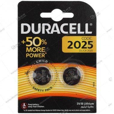 Элемент питания Duracell CR2025/2BL