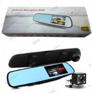 "Зеркало-видеорегистратор Vehicle Blackbox PN10 4,3""2 камера с режимом помощи парковки"