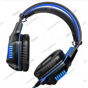 Наушники Borofone BO101 Racing gaming с микрофоном синий