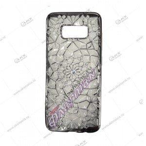 Силикон Samsung S6 бермуды стразы серебро