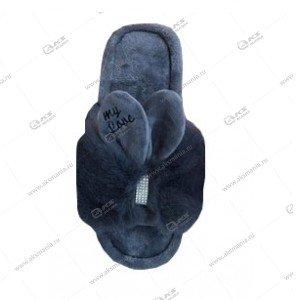 """Домашние меховые тапочки с ушками """"Love"""" открытые 40/41 размер, 270мм"""