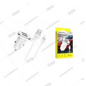 АЗУ Borofone BZ12 Lasting power 2.4A + кабель Lightning белый