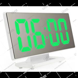Часы настольные DS-3618L бело/зеленый