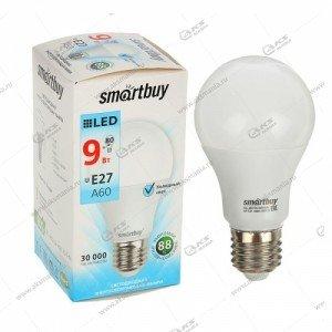 Лампа светодиодная Smartbuy A60-9W-220V-4000К-E27 (белый свет)