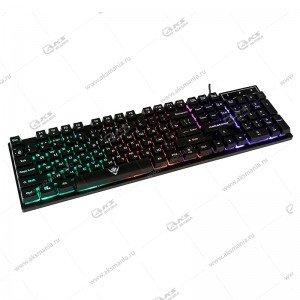 Клавиатура KG-23U Dialog Nakatomi - игровая с RGB подсветкой, USB, чёрная
