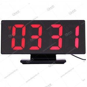 Часы настольные DS-3618L черно/красный